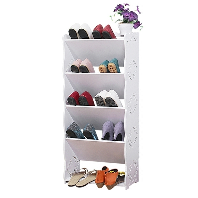 rack household shoe living room Simple European carved dust economy dormitory shelves continental iron shoe multilayer simple stainless steel dust storage shoe iron shoe rack folding shelves