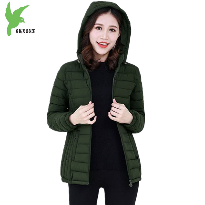 Plus size 6XL Women s Down Cotton Jacket Autumn Winter Short Coat New Fashion Thin Hooded
