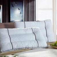 Cotton Gusset Gel Pillow Semen cassiae (2 Pack) White 48cmx74cm Luxury Gel Pillow Hypoallergenic & Dust Mite Resistant Queen