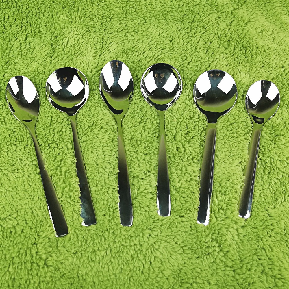 3 Pcs 304 Stainless Steel Stirring Spoon Round Pointed Square Head Soup Spoon De