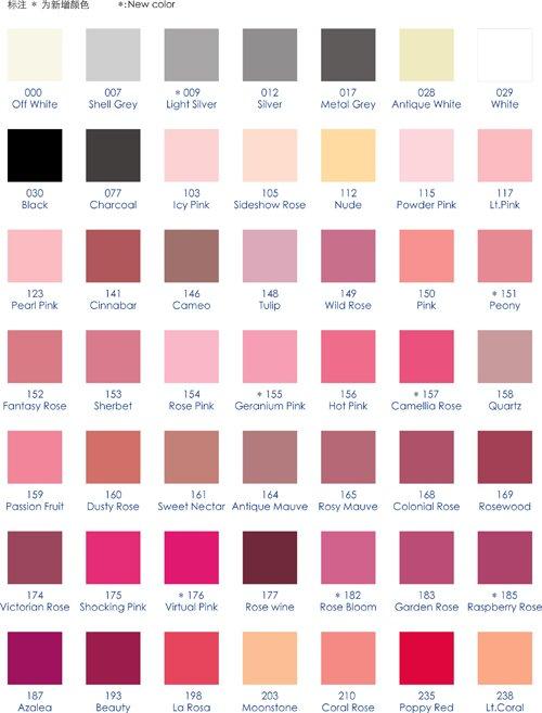 Iubufigo Single Facedouble Face Satin Ribbon Color Chart In