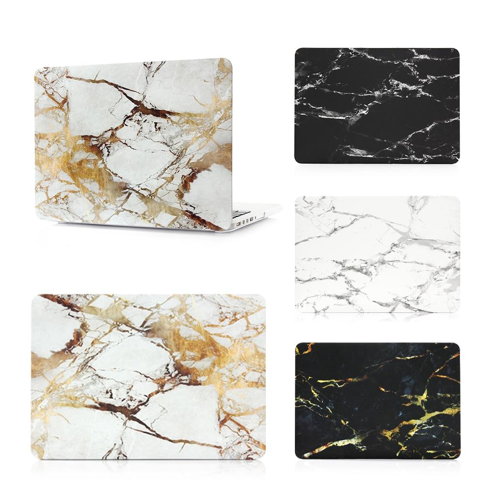 все цены на  New Fashion Marble Stone Pattern Case Cover For Apple macbook Air Pro Retina 11 12 13 15 laptop bag For Mac 13.3 inch  онлайн