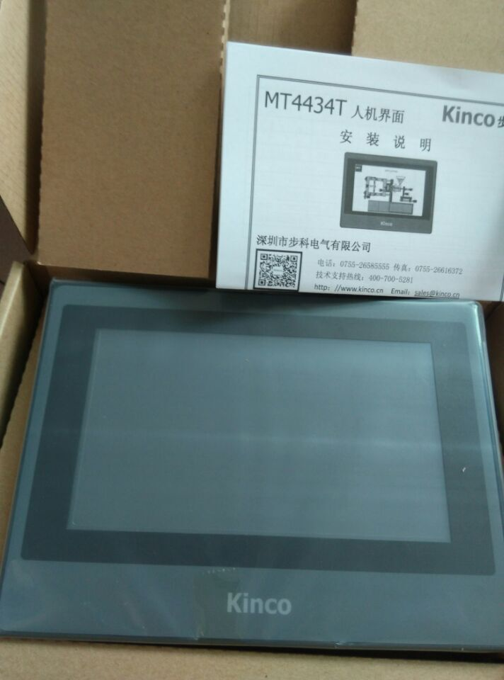 Original Kinco MT4434T HMI Touch Panel NEW in Box with Program Cable & Software, 7 TFT Display, 800*480,65536 Colors 6sl3 255 g120 basic operater key panel bop 2 6sl3255 0aa00 4ca1 new original in box