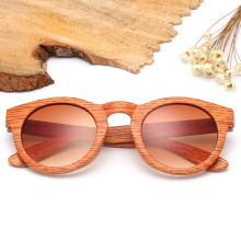 2017 Wooden Bamboo Liked Stripped Frame Sunglasses Men Retro Vintage Eyewear Unisex Glasses For Women Oculos Brand designer X20