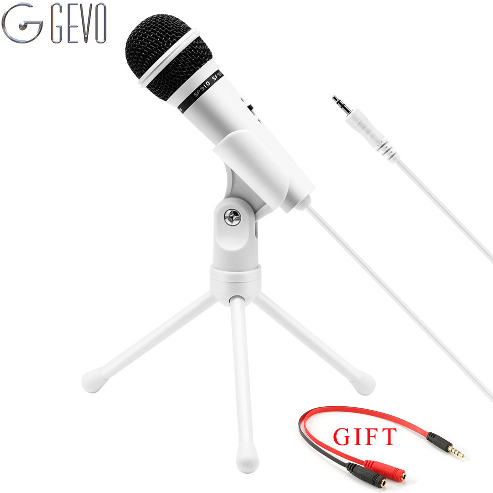 SF-910 Condenser Microphone Professional Vocal Studio Dynamic Wired 3.5mm Jack Phone Mic Stand For Computer Desktop Karaoke PC sf 666 3 5mm audio jack wired condenser microphone
