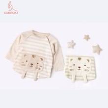 COBROO Baby Girl/Boy Clothes with Cute Cat Pattern Long Sleeve Tops Tees 3-24 Months
