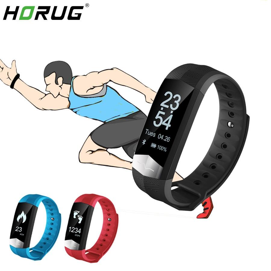 Bracelet intelligent HORUG Bracelet de remise en forme étanche Bracelet de suivi d'activité intelligent grand écran tactile PK Mi bande 3 Smartband