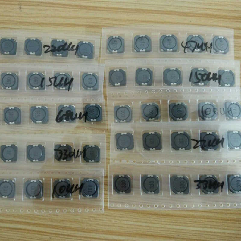 SMD Inductor Kit CDRH104R 10uH to 330uH 10x10x4mm 10values*5pcs=50pcs SMD Power Inductor Assorted Sample Kit