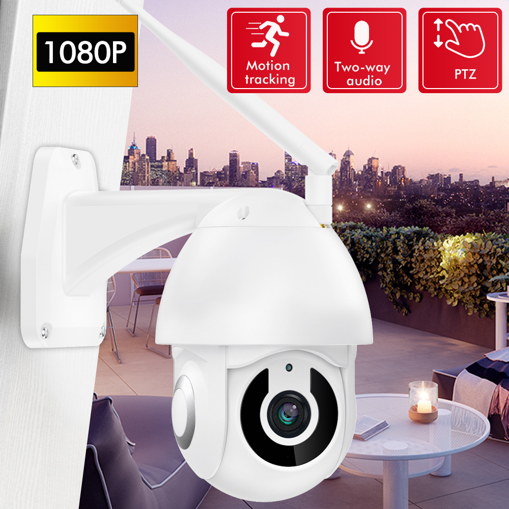 SDETER 1080P Wireless Outdoor IP Camera WIFI PTZ Speed Dome CCTV Security Camera Motion Alarm IR Two Way Audio Camera ExteriorSDETER 1080P Wireless Outdoor IP Camera WIFI PTZ Speed Dome CCTV Security Camera Motion Alarm IR Two Way Audio Camera Exterior