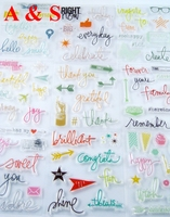 More Design Transparent Clear Silicone Stamp Seal For DIY Scrapbooking Photo Album Decorative Clear Stamp