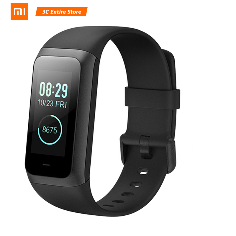 NEW Original <font><b>Huami</b></font> <font><b>Amazfit</b></font> Band <font><b>Cor</b></font> <font><b>2</b></font> Smart Bracelet 5ATM Waterproof <font><b>2</b></font>.5D Color IPS 316L Stainless Steel Frame For Android IOS image