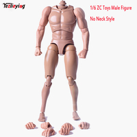 TopToys 1/6 Scale Muscular Body Action Figure Male ZCTOYS No Neck Shape HT TOYS For 12 Inch Man Phicen Head Sculpt Accessoires