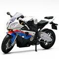 S1000rr diecast maisto y abs escala 1:12 modelo de la motocicleta toys, miniatura de Aleación de Carreras de Motor de La Bicicleta, coche de Juguete Para Niños, Juguetes
