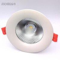 Alta qualidade branco escudo 7w 10 15 20 cob led recesso para baixo luz cob conduziu a lâmpada do teto branco frio quente conduziu a luz do ponto ce rohs