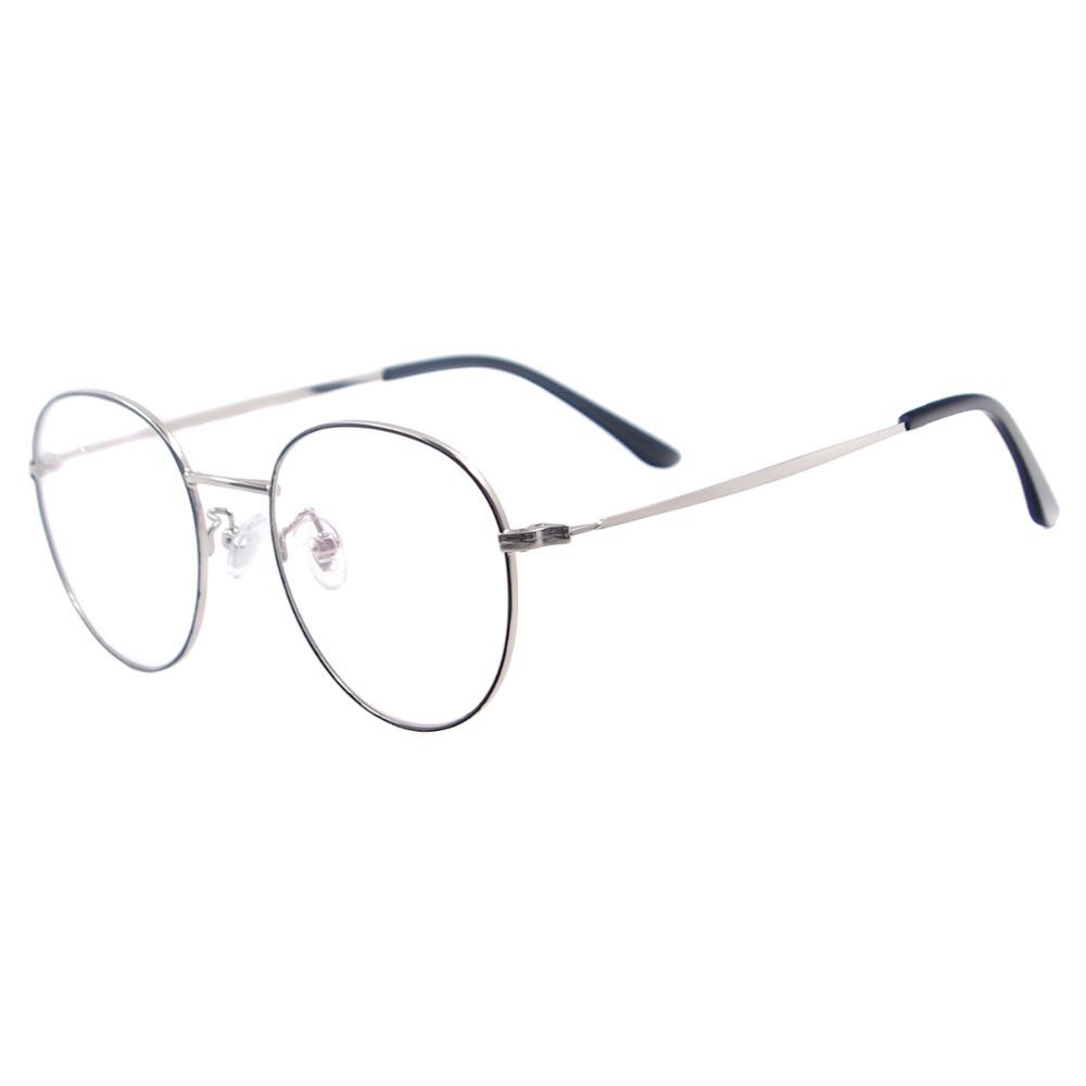 Image 5 - Men and Women Metal Small Vintage Prescription Eyewear Frame Black Round Glasses For Multifocal Myopia Reading Lenses-in Men's Eyewear Frames from Apparel Accessories
