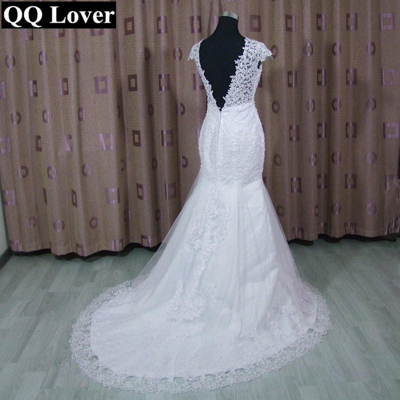 2019 Vintage Mermaid Lace Wedding Dress Robe De Mariee Backless Bridal Gowns Handmade Sexy Wedding Gown