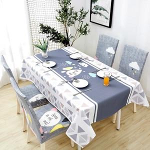 Image 4 - Parkshin 2019 Neue Nordic Deer Tischdecke Home Küche Rechteck Wasserdicht Tischdecken Partei Bankett Esstisch Abdeckung 4 Größe