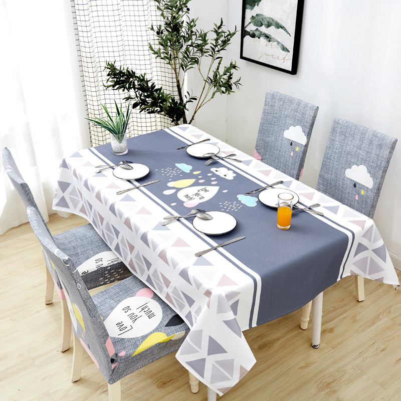 Image 4 - Parkshin New Wholesale Nordic Waterproof Tablecloth Home Kitchen Rectangle Table Cloths Party Banquet Dining Table Cover 4 Size-in Tablecloths from Home & Garden