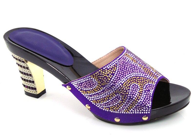 ФОТО African sandals high quality slipper summer high heels women shoes purple! DG1-21