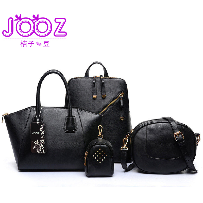 New Luxury Lady Handbags 4 Pcs Composite Bags Set Woman Shoulder Crossbody Saddle Frame Bag Female Wallet Purse Clutch jooz brand luxury belts solid pu leather women handbag 3 pcs composite bags set female shoulder crossbody bag lady purse clutch