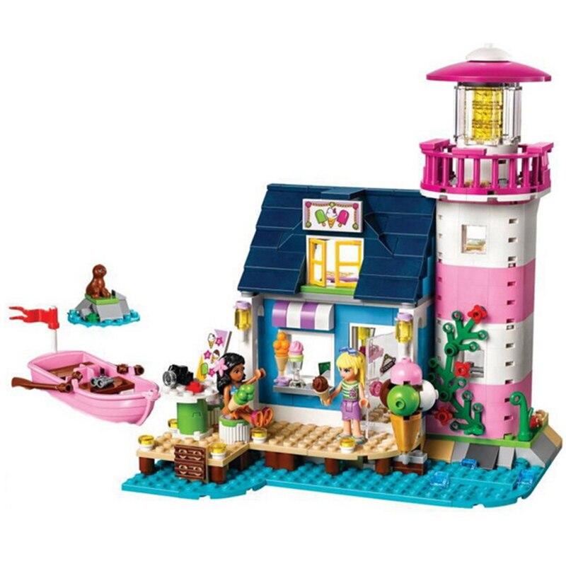 478Pcs 79161 10540 Friends Heartlake Lighthouse Model Building Blocks Kit Block Brick Set Compatible LegoINGlys 41094 Friends lego маяк 41094