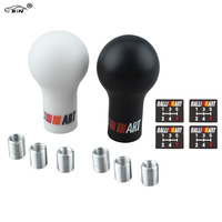 RALLIART Universal 5 6 Speed Auto Gear Shift Knob Black White Car Manual Transmission MT For