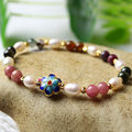 [YKIN] Ladies Fine Jewelery Natural Tourmaline Bracelet Bracelet Crystal With Pearls Bracelet