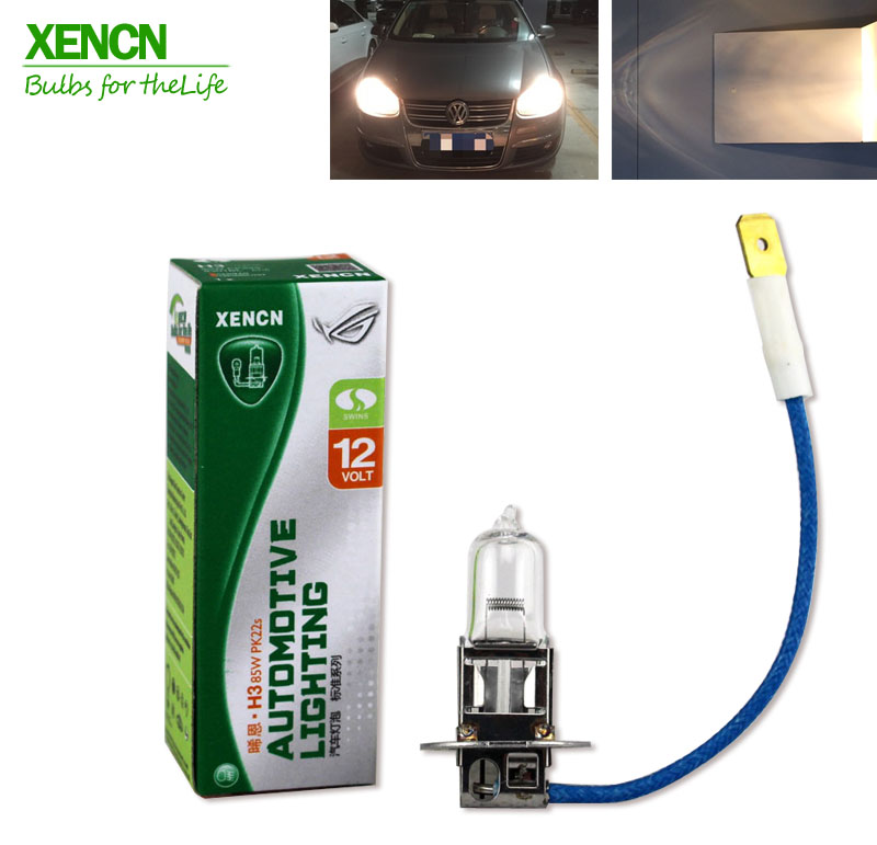 XENCN H3 Pk22s 12V 85W Clear Series Original Line Car Halogen Fog Light Standard OEM Quality Auto Lamp Free Shipping 2PCS xencn h7 px26d 12v 100w 3200k clear series off road standard car headlight halogen bulb uv quartz brand auto lamp for mazda cx 5