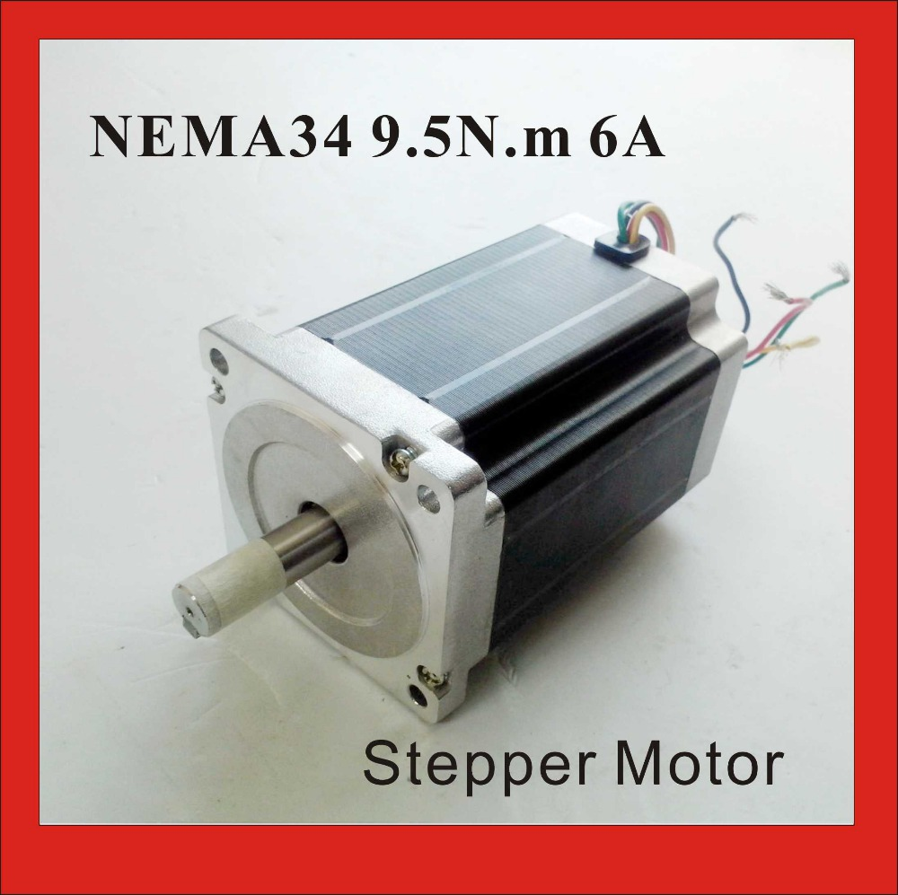 NEMA 34 Stepper Motor 9.5 N.m (1319 oz-in) 6A Body 126mm CNC NEMA34 Stepping Motor CE ROHSNEMA 34 Stepper Motor 9.5 N.m (1319 oz-in) 6A Body 126mm CNC NEMA34 Stepping Motor CE ROHS