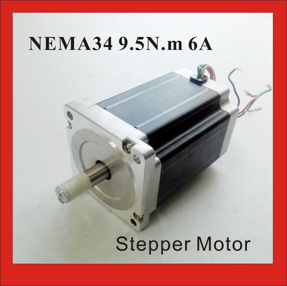 NEMA 34 Stepper Motor 9.5 N.m (1319 oz-in) 6A Body 126mm CNC NEMA34 Stepping Motor CE ROHS цена