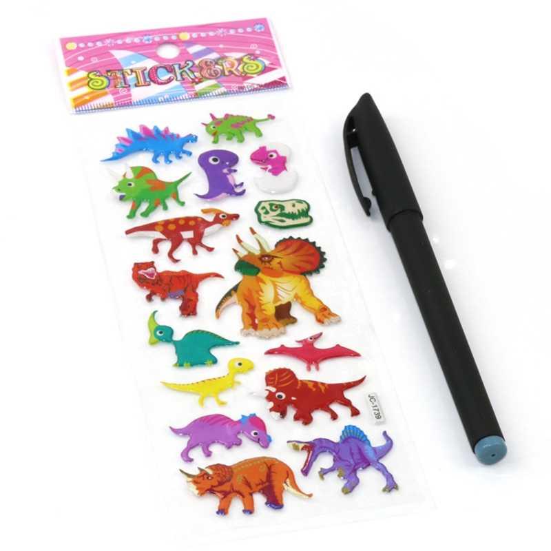 Pegatinas de dinosaurio Animal dinosaurio Jurásico mundo espuma pegatina pegatinas Puffy chico sólido burbuja juguete niños clásicos juguetes pegatina