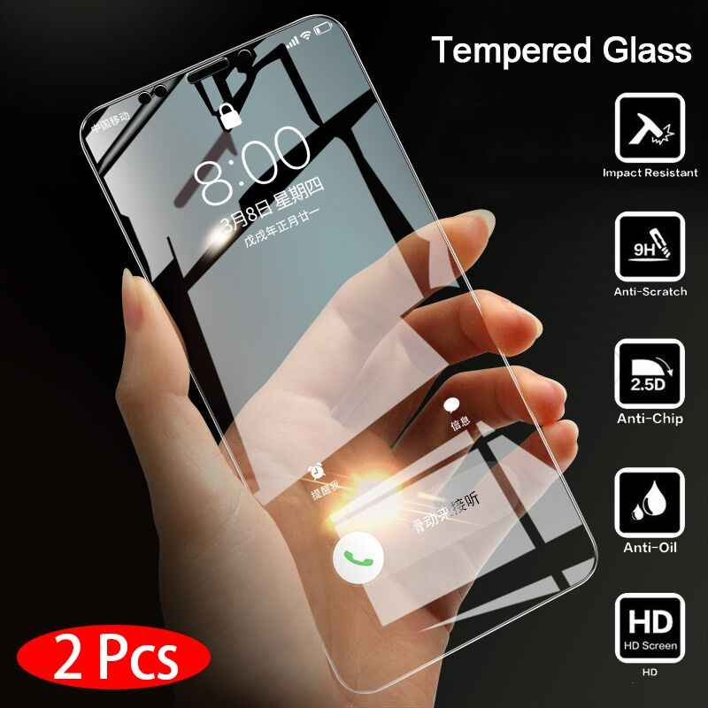 2 Pieces Tempered Glass for Huawei Honor 7A Screen Protector 9H 2.5D Phone Protective Glass for Huawei Honor 7A Pro Glass
