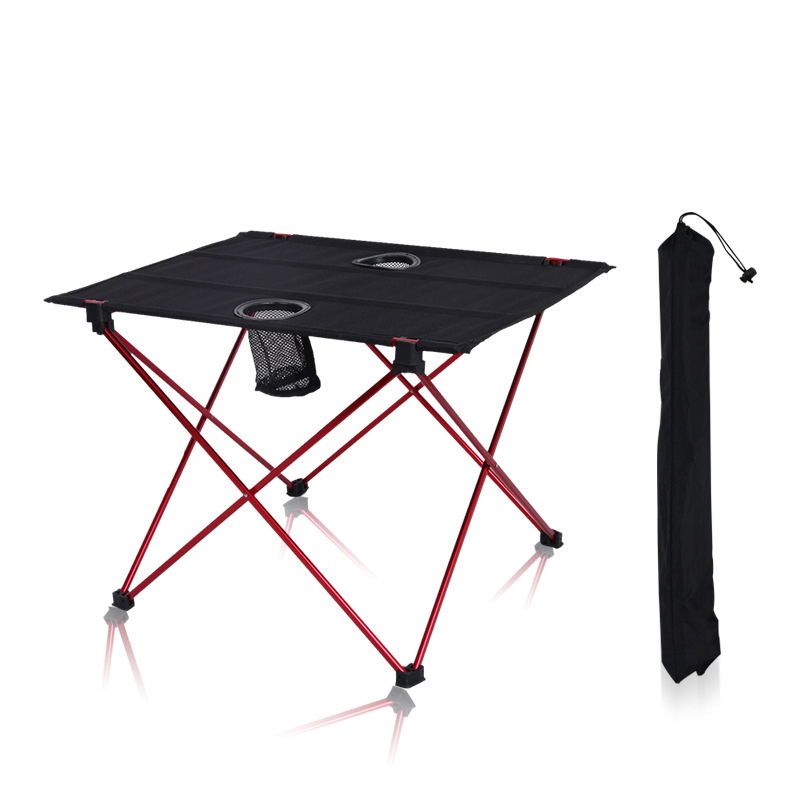 modern Outdoor picnic table camping portable aluminum alloy folding table waterproof Oxford cloth ultra light durable tables portable ultra bright waterproof aluminum alloy mini led flashlight