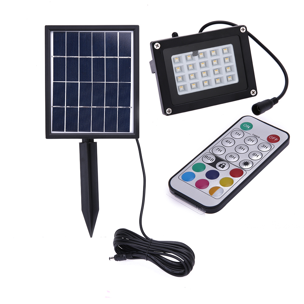 Solar Power Light Garden Floodlight 20 LEDs RGB 5050LED Garden Security Solar Light Waterproof Garden Lawn Outdoor Panel Lamp