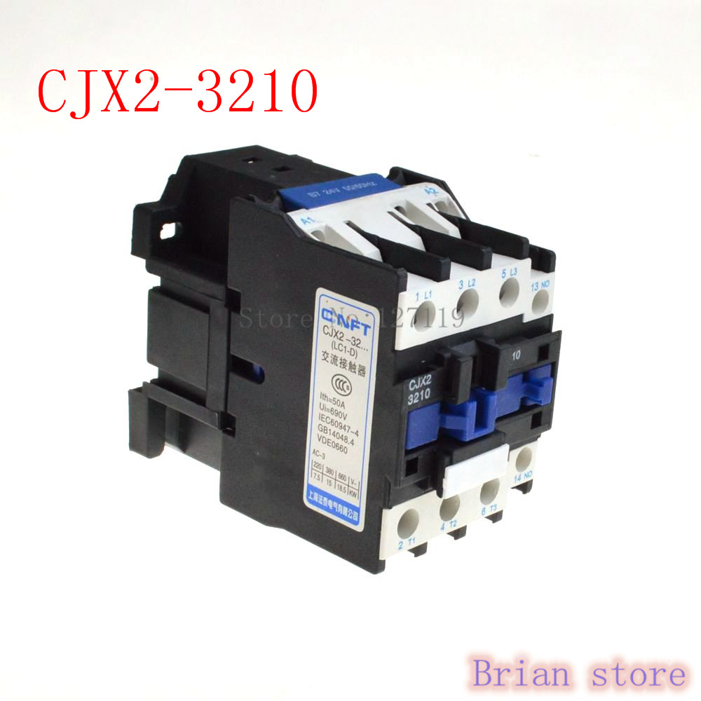 цена на Motor Starter Relay CJX2-3210 contactor AC 24V 36V 48V 110V 220V 380V 32A Voltage optional LC1-D