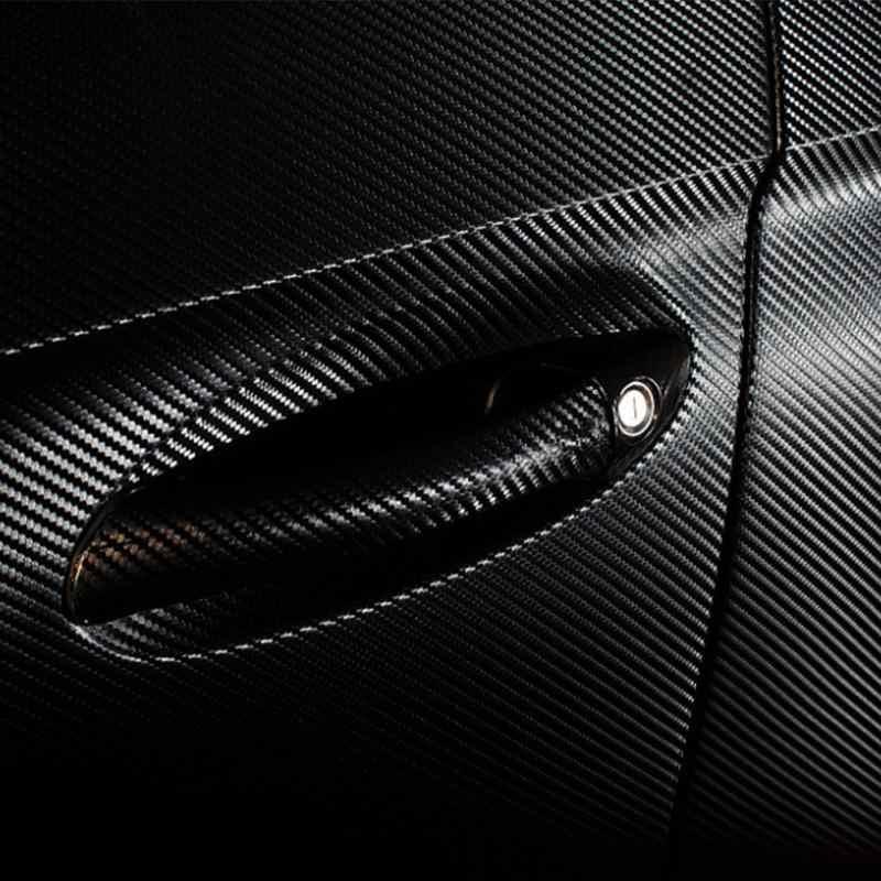 Buena calidad 10x10 cm x 152 20 cm x 152 30x152cm etiqueta engomada del coche de estilo 4D espesar coche de fibra de carbono vinilo de la película
