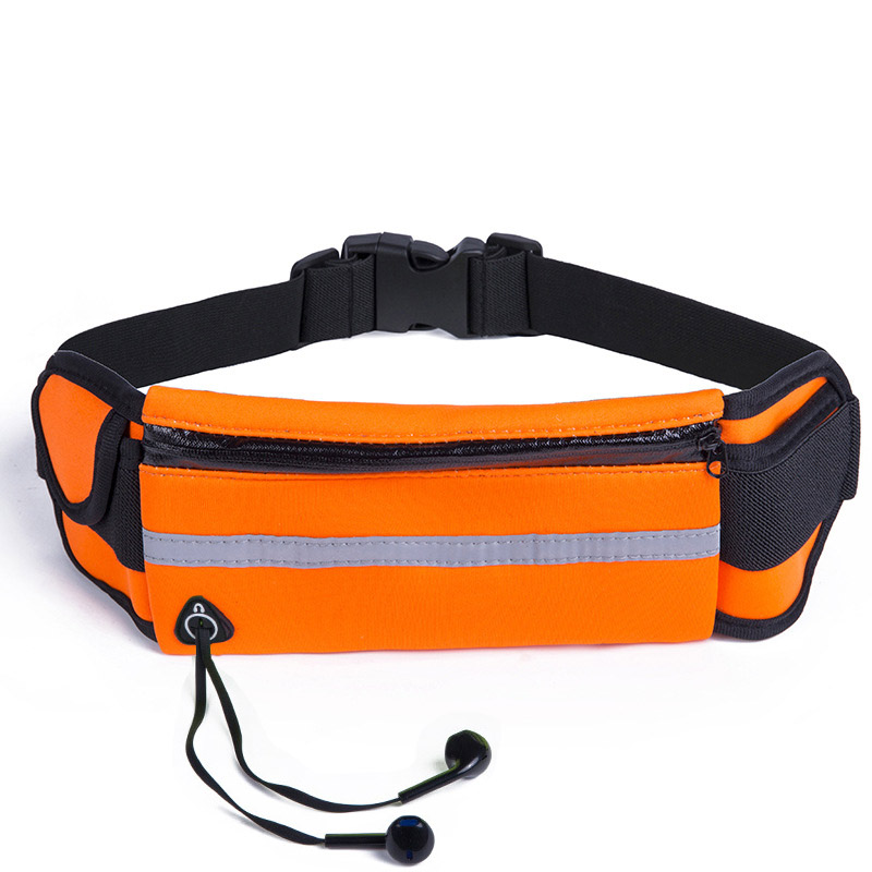 Fashion Waterproof Waist Bags Women 6 Inch Phone Storage Fanny Packs Men Anti-theft Stealth Travel Flexible Belt Bag Running