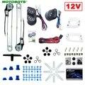 MOTOBOTS 1 Набор Универсальный Автомобильный 2-дверный электростеклокомплект с 3 шт. переключателями и проводами DC12V # AM3781