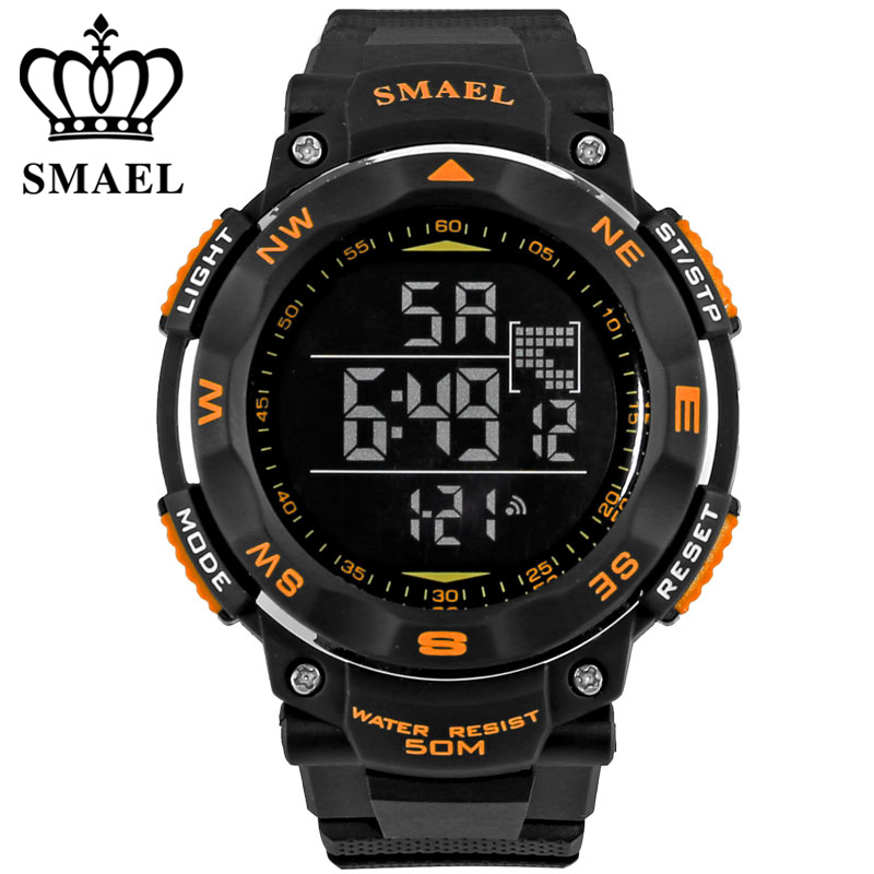 New SMAEL Brand Clock Men LED Digital Military Watch, 50M Dive Swim Dress Sports Watches Fashion Outdoor Wrist watches
