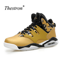Basket Sport Trainers Big Size Mens Basketball Shoes High Top Couples Basketball Shoes White Yellow Shoes
