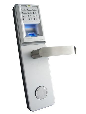 LHX Christmas Supplies Biometric Fingerprint Lock Combination Door Lock with Deadbolt for Office Hotel Meeting room DIY a lhx waterproof lever handle mechanical code door lock with keys machine combination locks a
