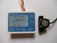 YF S201 G1 2 Flow Water Sensor Meter Digital LCD Display Quantitative Control 1 30L Min