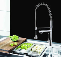 DHL New Kitchen Faucet Ceramic Valve Core Pure Copper Faucet Double Outlet And Smoked Pull The