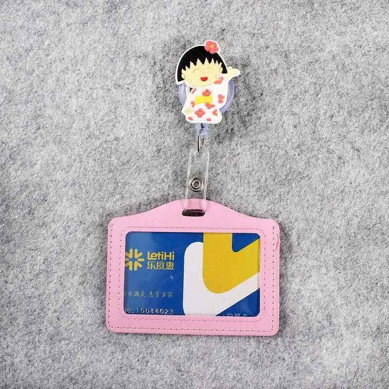 الكرتون عرضية شارة التمرير ممرضة مكتب بكرة فتاة شخصية قابلة طالب ممرضة معرض بولي PU بطاقة الأعمال شارة حامل