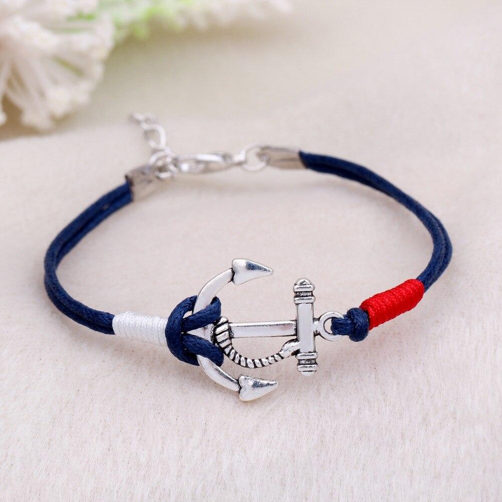 Tom Espérons Nouvelle Mode Anchor Bracelets Pour Femmes Hommes Bracelet Femme Charme En Cuir Anchor bracelets
