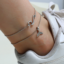 2019 New Europe and America Summer Beach Silver Color Anklets For Women Bohemian Anklet Bracelets On The Leg Female Foot Jewelry new summer europe and america anklet women fashion simple stars beach anklet fashion jewelry small goods