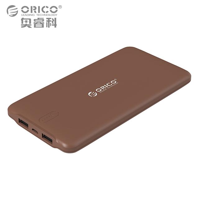 Orico 10000 mah externo del cargador de batería inteligente de identificación 2.4a dual usb power bank puerto universal