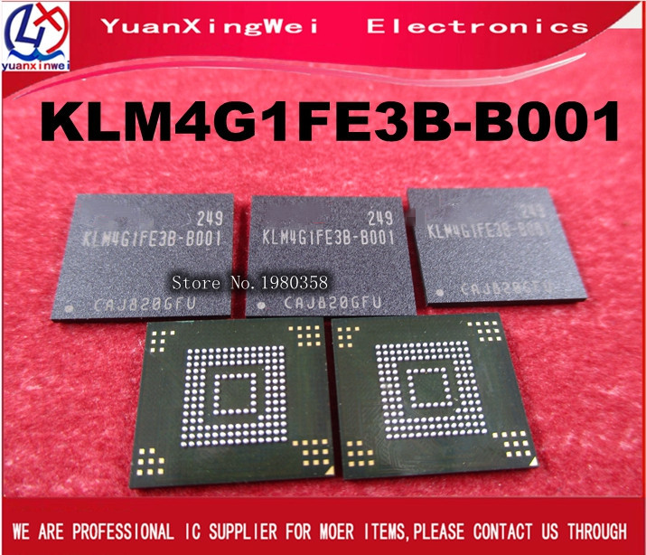 5PCS/LOT KLM4G1FE3B-B001 KLM4G1FE3B B001 for original