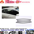 For Su6aru Forester 2013 2014 2015 2016 car body styling Stick lamp plastic Window glass Wind Visor Rain/Sun Guard Vent 4pcs