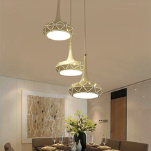 Creative Geometric Hollow Design Pendant lights Fixtures Modern Pendant Lamp Nordic Led Hanging Lamp Living Room Bar Art deco недорого